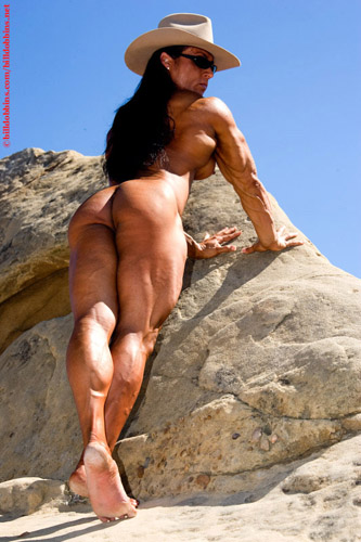 Nude Tazzie Colomb Bodybuilder